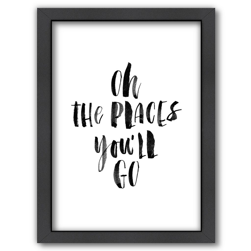 Americanflat ''Oh The Places You'll Go'' Framed Wall Art