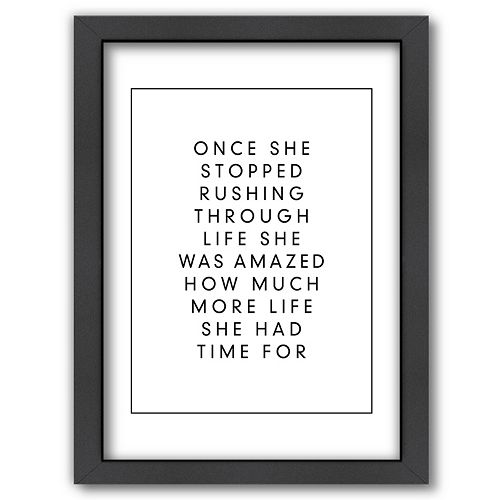 Americanflat ''Rushing Through Life'' Framed Wall Art
