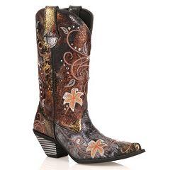 Durango Crush Floral Women's Cowboy Boots by