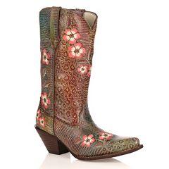 Durango Crush Floral Leopard Women's Cowboy Boots by