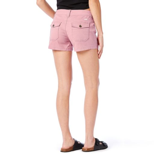 Juniors' Unionbay Delaney Stretch Twill Midi Shorts
