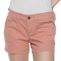 Juniors' Unionbay Delaney Stretch Twill Midi Shorts