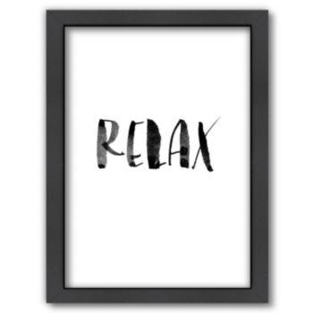 Americanflat ''Relax 2'' Framed Wall Art