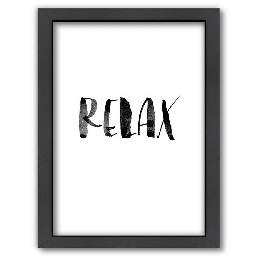 Americanflat ''Relax 2'' Framed Wall Art