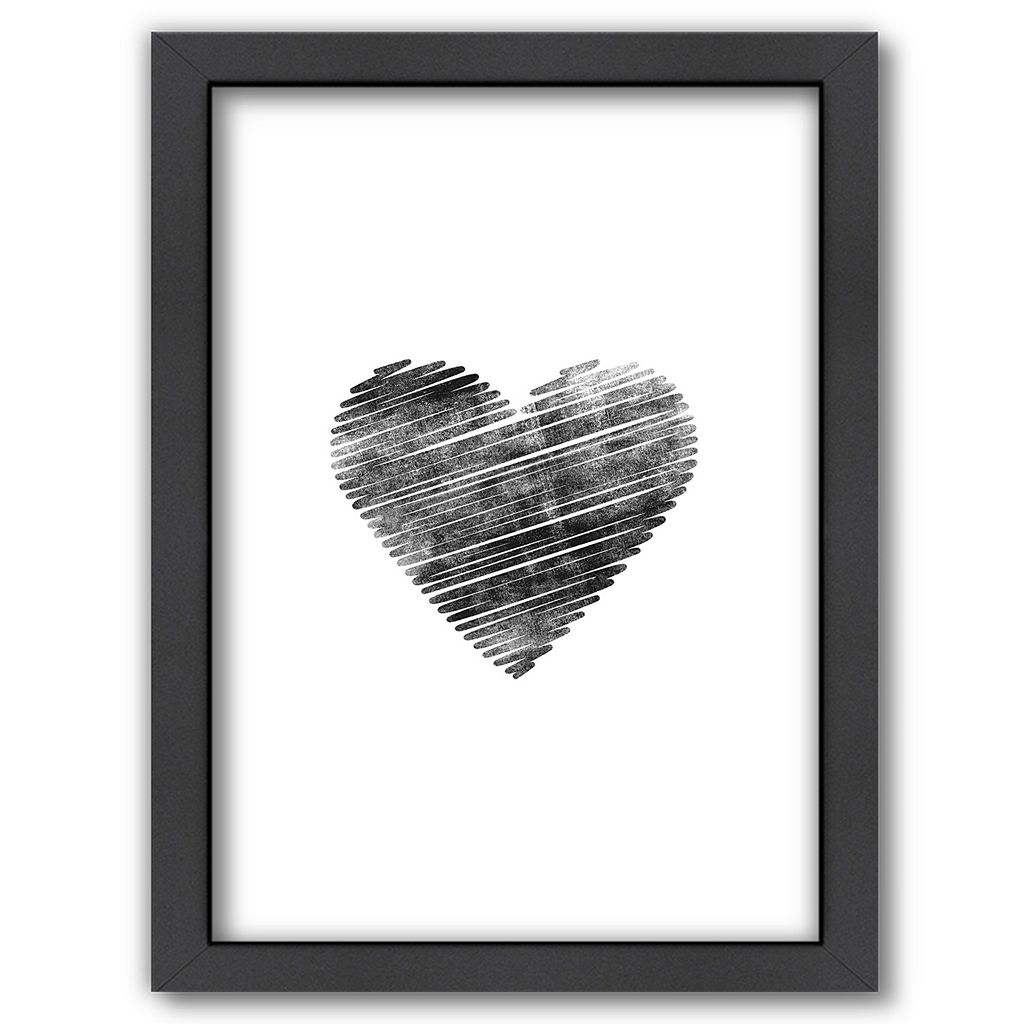 Americanflat Scribble Heart Framed Wall Art