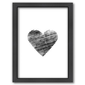 Americanflat Scribble Heart Framed Wall Art