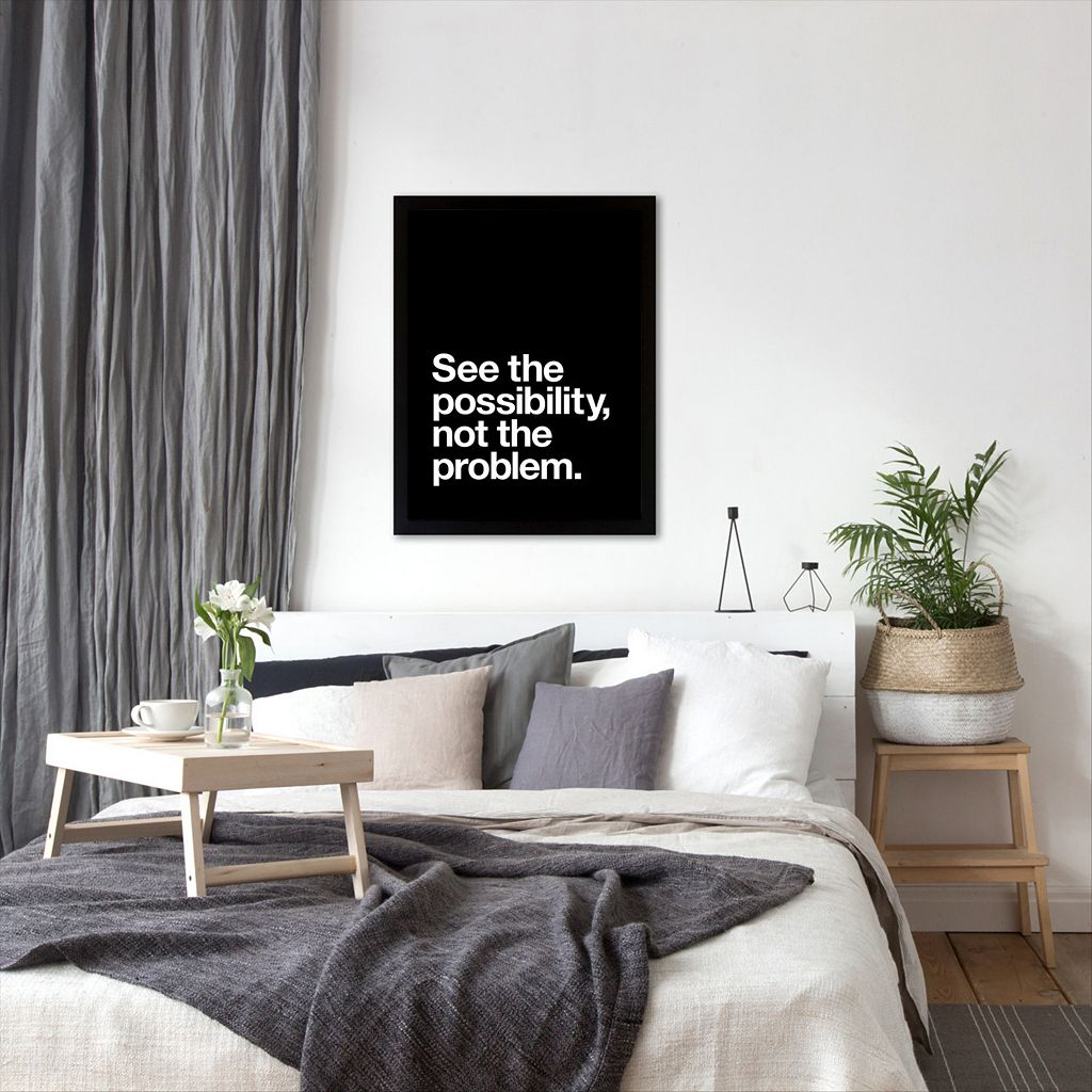 Americanflat ''See The Possibility Not The Problem'' Framed Wall Art