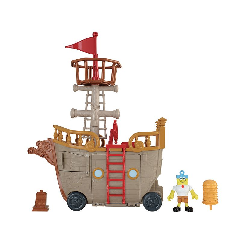 Imaginext Spongebob Mid Food Truck Playset by Fisher-Price, Multicolor