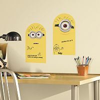 Minion 2 pc Dry Erase Peel and Stick Wall Decal Set