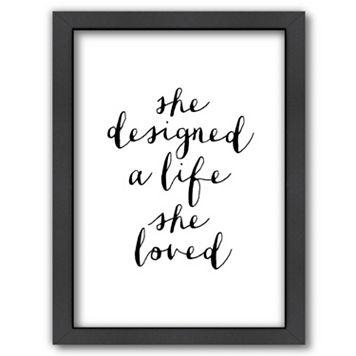 Americanflat ''She Designed A Life 2'' Framed Wall Art