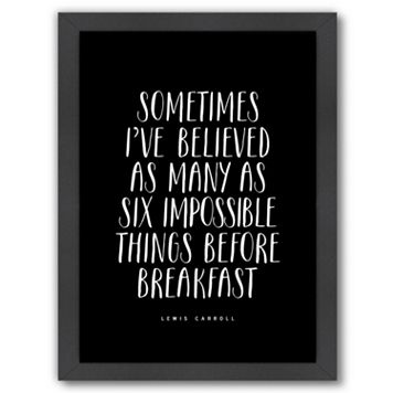 Americanflat ''Sometimes I've Believed'' Framed Wall Art