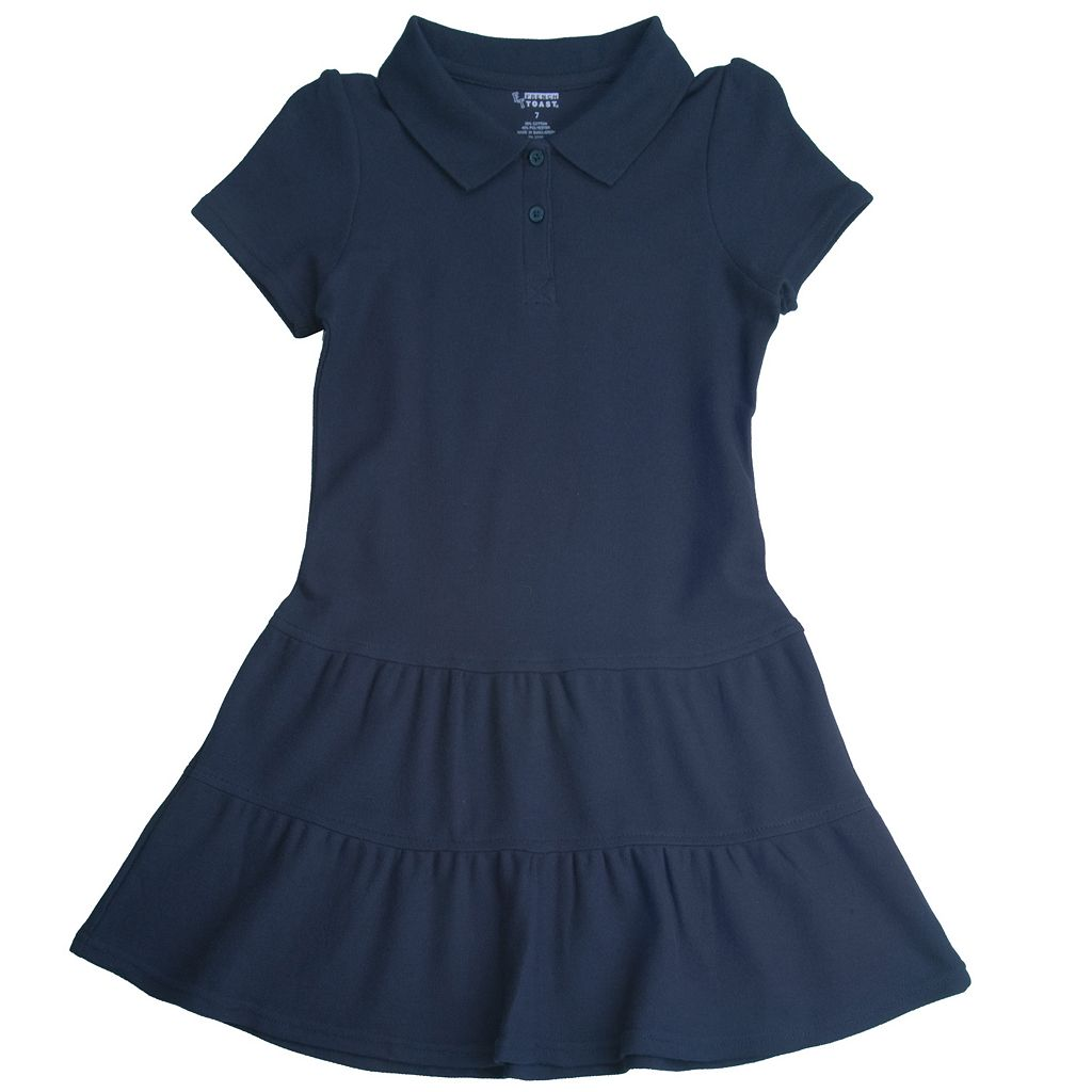 Toddler Girl French Toast School Uniform Pique Polo Dress