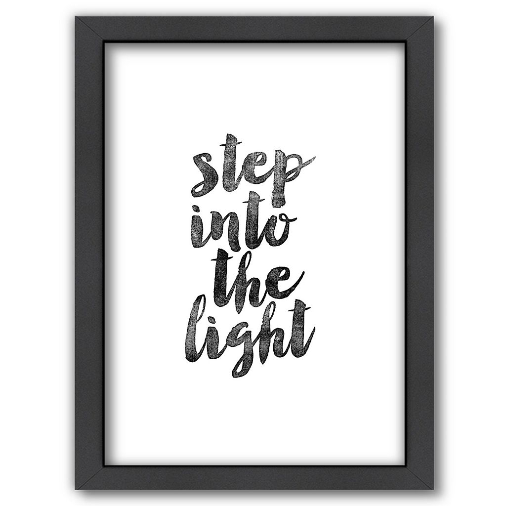 Americanflat ''Step Into the Light'' Framed Wall Art