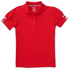 Toddler Girl French Toast Rhinestone Button School Uniform Polo Shirt