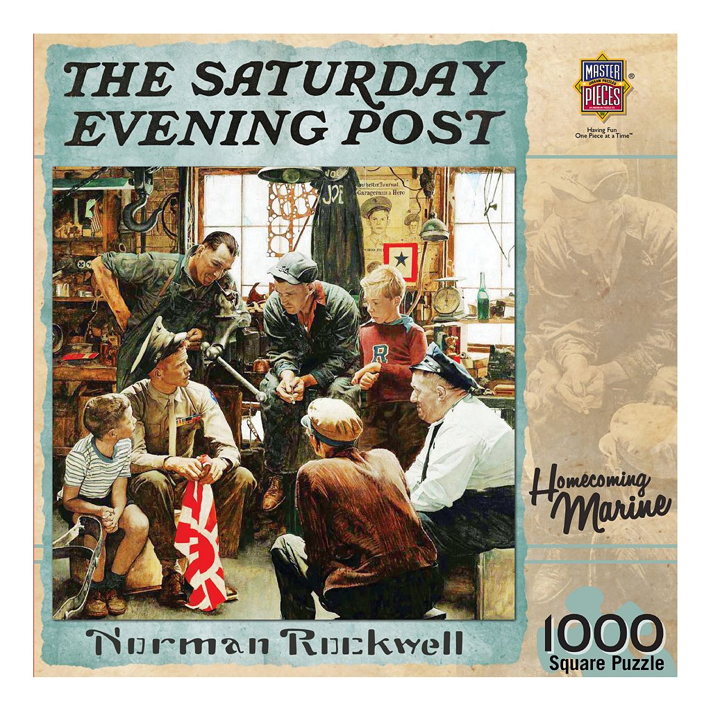 MasterPieces The Saturday Evening Post Norman Rockwell: Homecoming Marine 1,000-pc. Jigsaw Puzzle