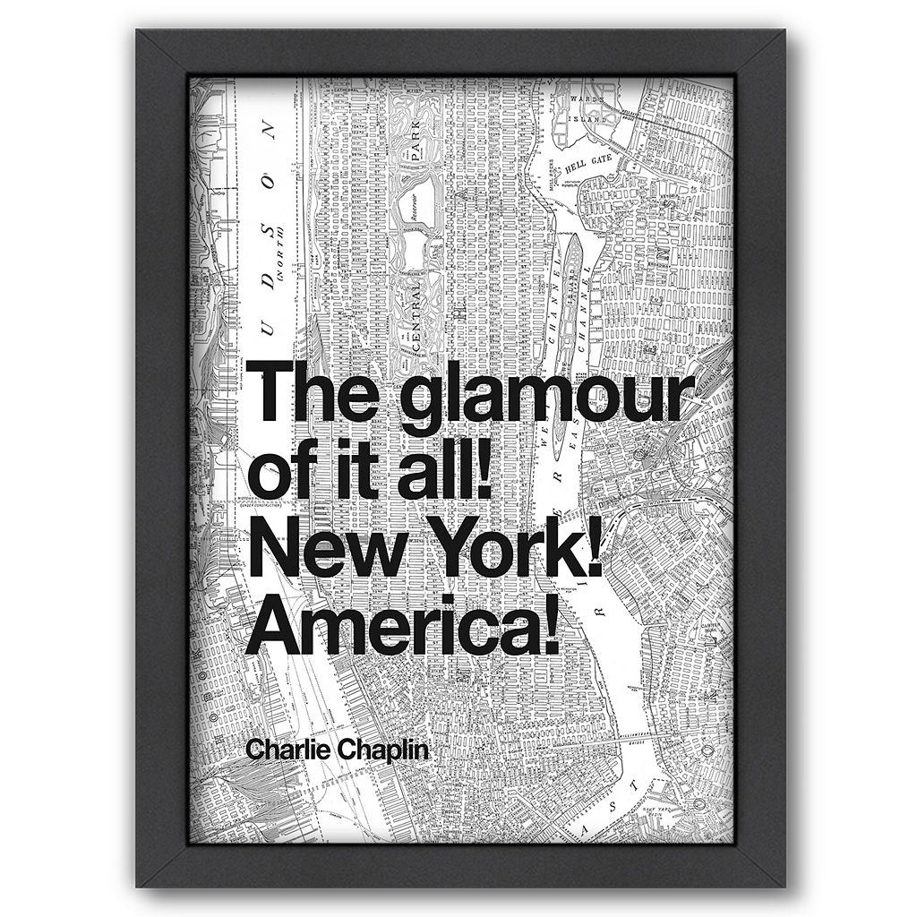 Americanflat ''The Glamour of it All! New York! America!'' Framed Wall Art