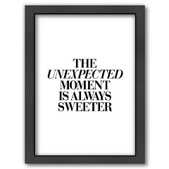Americanflat ''The Unexpected Moment is Always Sweeter'' Framed Wall Art