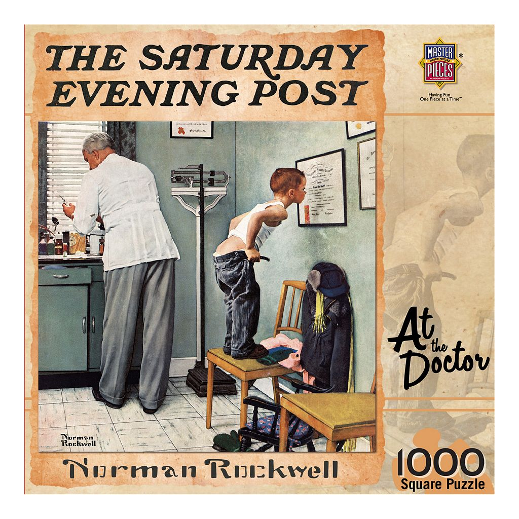 MasterPieces The Saturday Evening Post Norman Rockwell: At the Doctor 1,000-pc. Jigsaw Puzzle