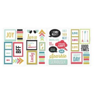 BFF Frames 66-piece Peel and Stick Wall Decal Set