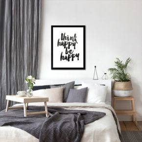 Americanflat ''Think Happy Be Happy'' Framed Wall Art