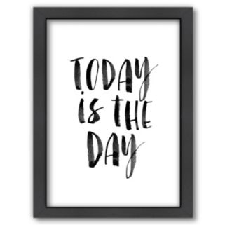 Americanflat ''Today is the Day'' Framed Wall Art