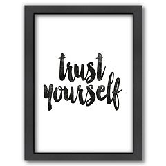 Americanflat ''Trust Yourself'' Framed Wall Art