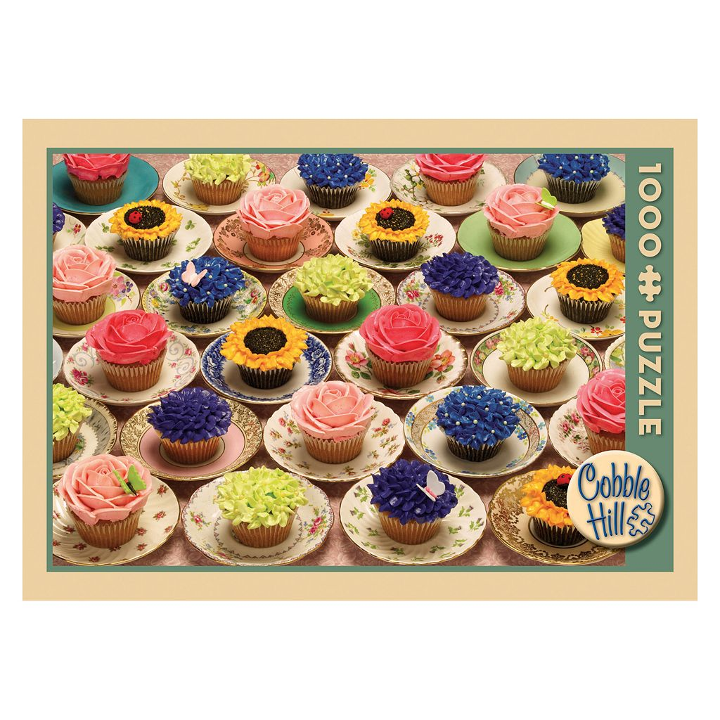 Cupcakes and Saucers 1,000-pc. Jigsaw Puzzle