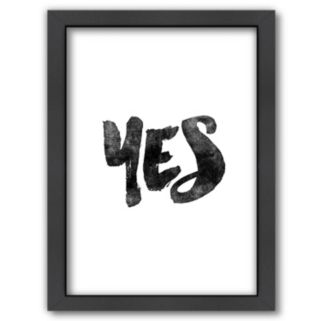 Americanflat ''Yes'' Framed Wall Art
