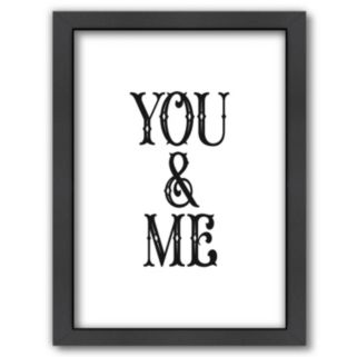 Americanflat ''You and Me'' Framed Wall Art