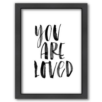 Americanflat ''You Are Loved'' Framed Wall Art