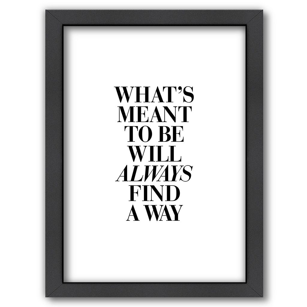 Americanflat ''What's Meant To Be'' Framed Wall Art