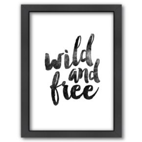 Americanflat ''Wild and Free'' Framed Wall Art