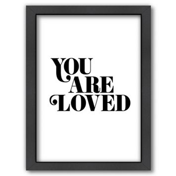 Americanflat ''You Are Loved 2'' Framed Wall Art