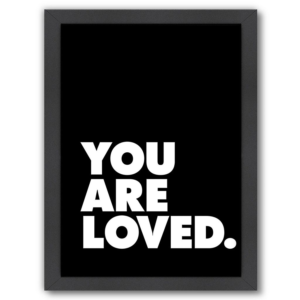 Americanflat ''You Are Loved 3'' Framed Wall Art