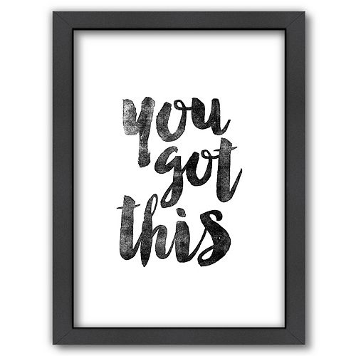 Americanflat ''You Got This'' Framed Wall Art