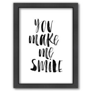 Americanflat ''You Make Me Smile'' Framed Wall Art