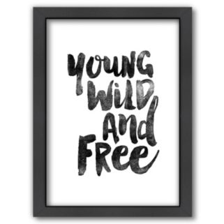Americanflat ''Young Wild And Free'' Framed Wall Art