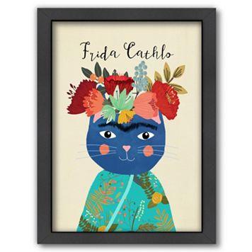 Americanflat ''Frida Cathlo'' Framed Wall Art
