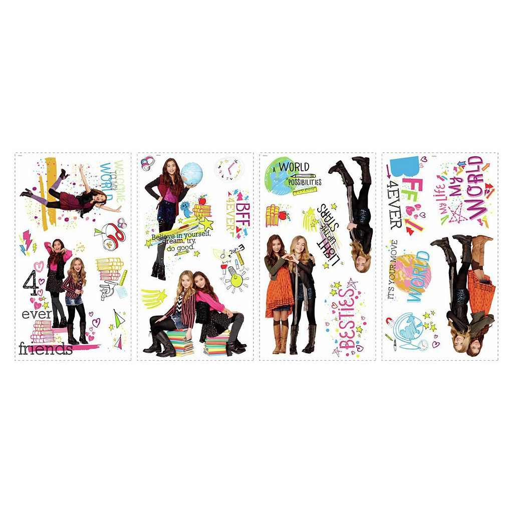 Girl Meets World 24-piece Peel and Stick Wall Decal Set