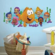Bubble Guppies Burst Peel and Stick Giant Wall Decal