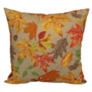 Harvest Autumn Leaves Outdoor Throw Pillow