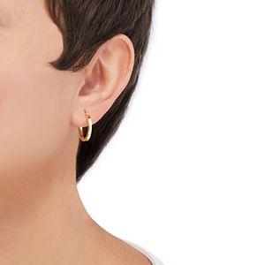 Everlasting Gold 14k Gold Square Hoop Earrings
