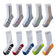 Boys Tek Gear® 10-Pack Crew Socks