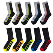 Boys Tek Gear® 10-Pack Liner Crew Socks