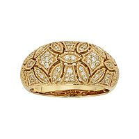 1/3 Carat T.W. IGL Certified Diamond 14k Gold Art Deco Wedding Ring