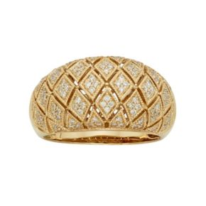 3/8 Carat T.W. IGL Certified Diamond 14k Gold Art Deco Wedding Ring