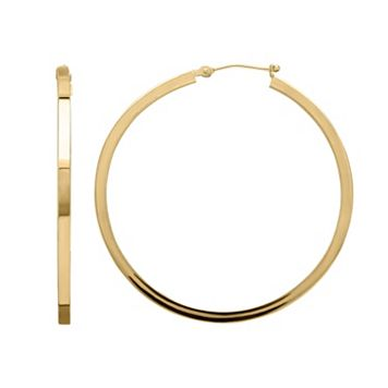 Everlasting Gold 14k Gold Square Hoop Earrings