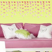 Watercolor Heart 180 pc Peel and Stick Wall Decal Set