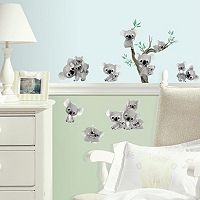 Koalas 20-piece Peel and Stick Wall Decal Set
