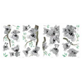 Koalas 20-piece Peel and Stick Wall Decal Set
